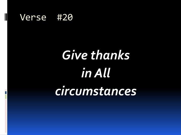 Verse  #20