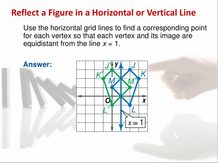 Reflect a Figure in a Horizontal or Vertical Line