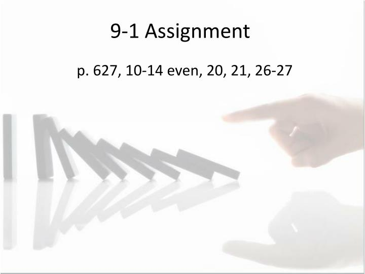 9-1 Assignment
