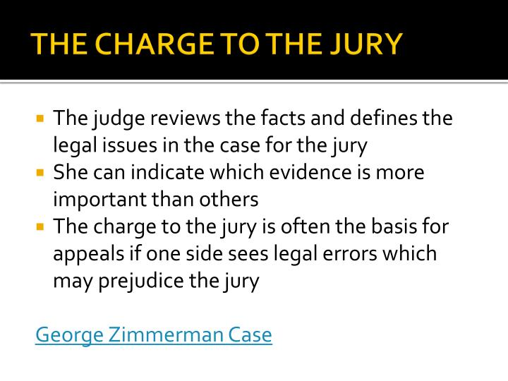 THE CHARGE TO THE JURY