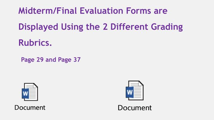 Midterm/Final Evaluation Forms are Displayed