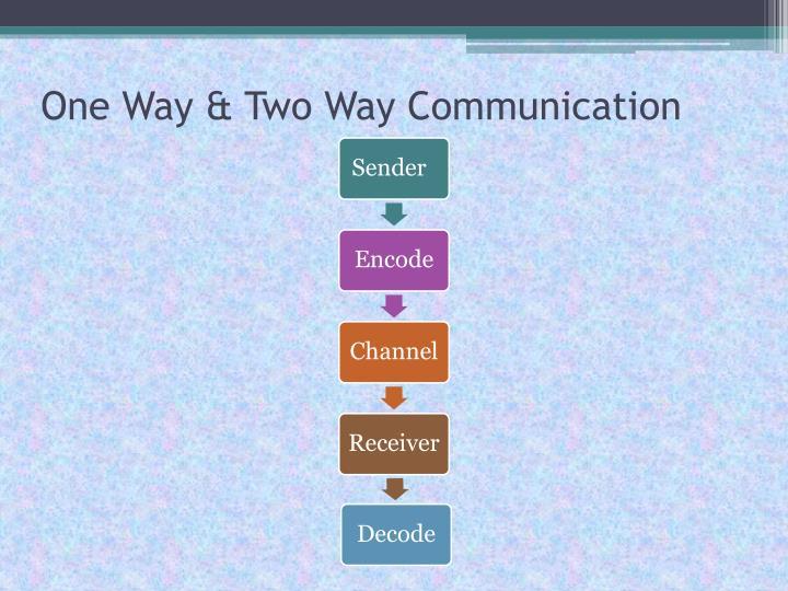 One Way & Two Way Communication