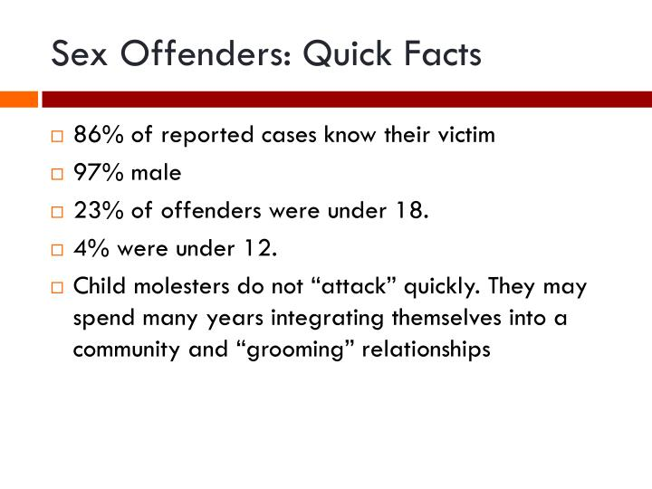 Sex Offenders: Quick Facts