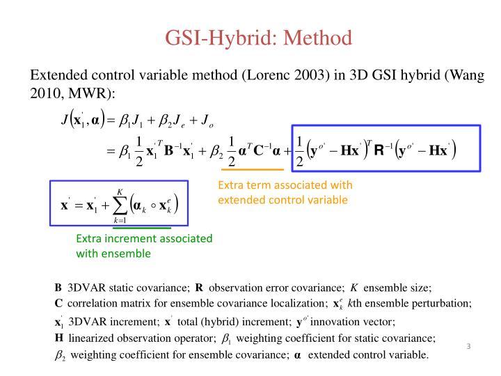 GSI-Hybrid: Method
