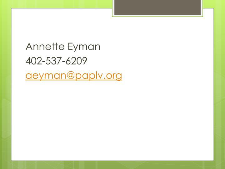 Annette Eyman