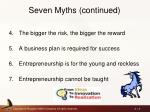 seven myths continued