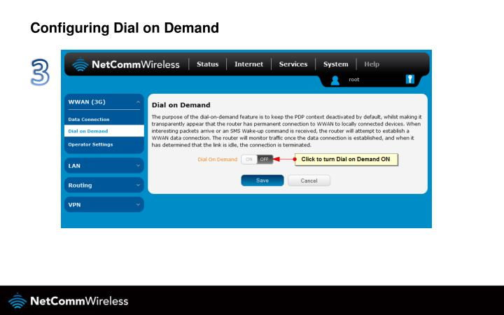 Configuring Dial on Demand