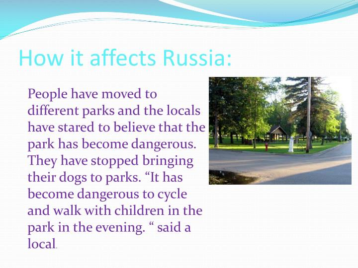 How it affects Russia: