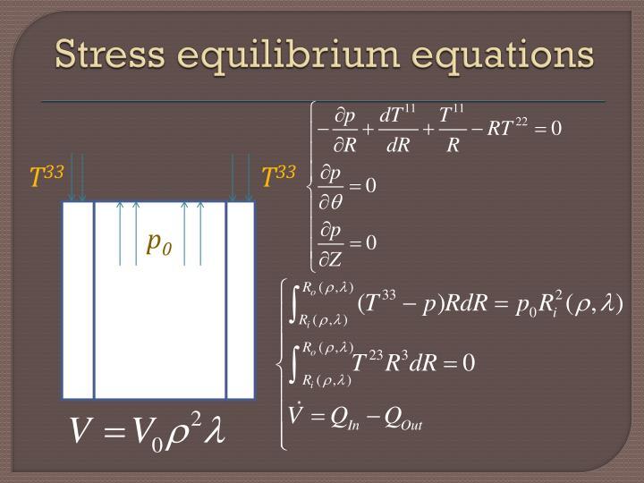 Stress equilibrium equations