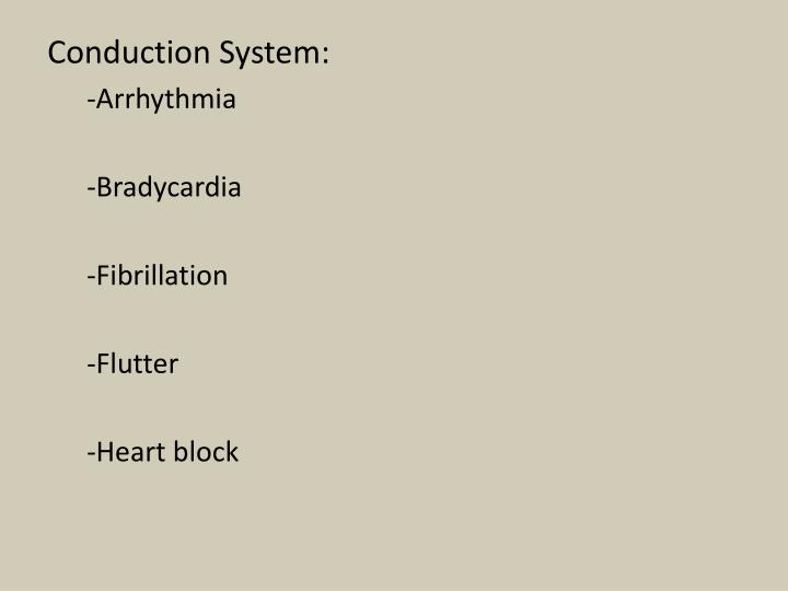 Conduction System: