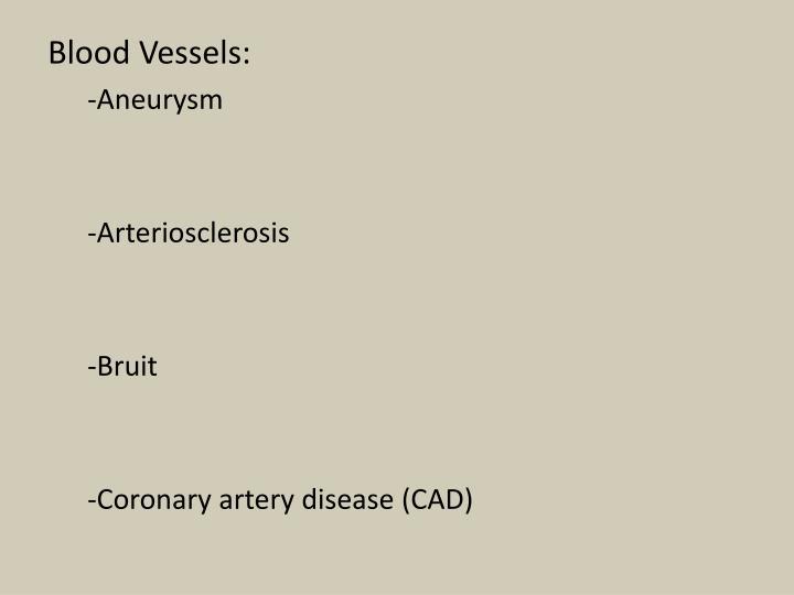 Blood Vessels:
