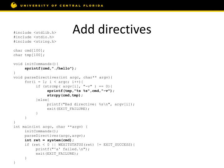 Add directives