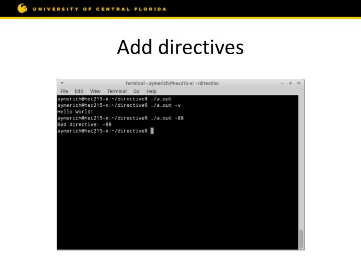 Add directives