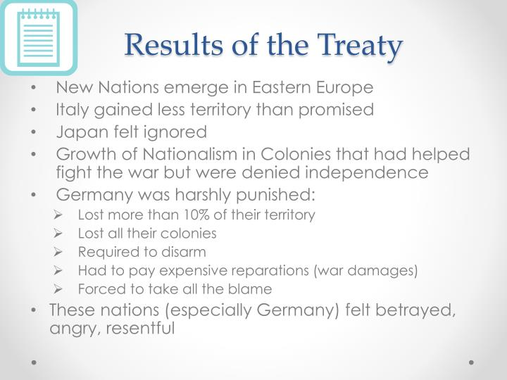 Results of the Treaty