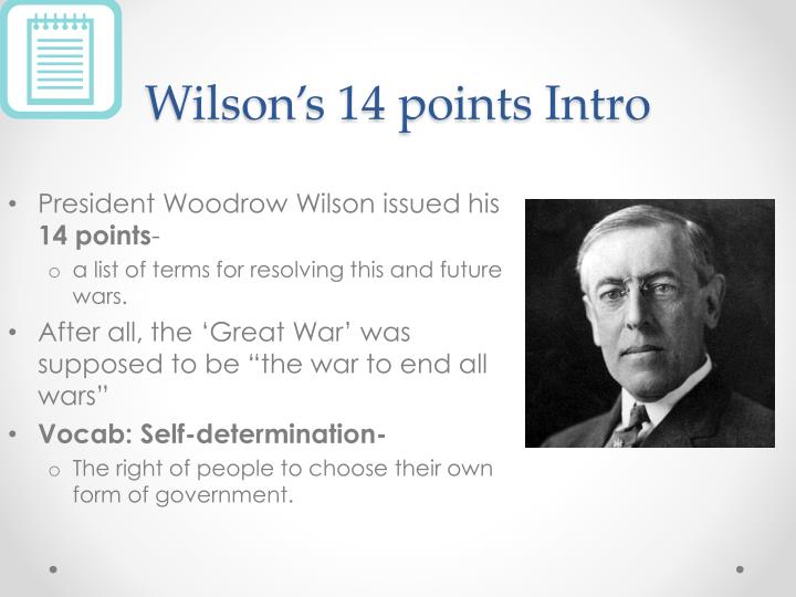 Wilson s 14 points intro
