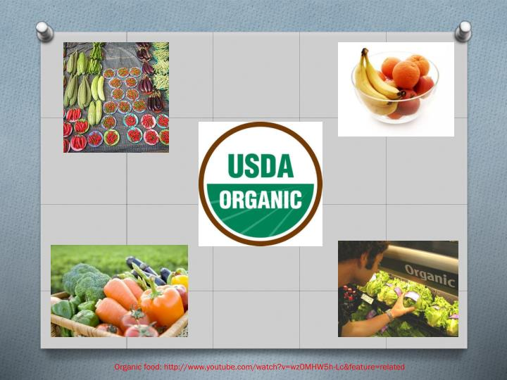 Organic food: http://www.youtube.com/watch?v=wz0MHW5h-Lc&feature=related