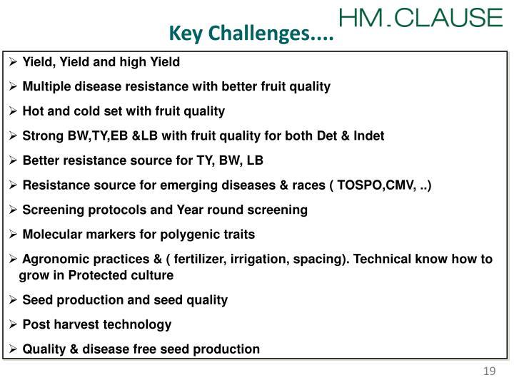 Key Challenges....