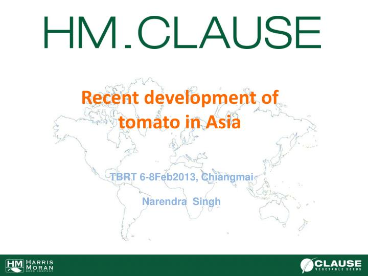 Recent development of tomato in asia