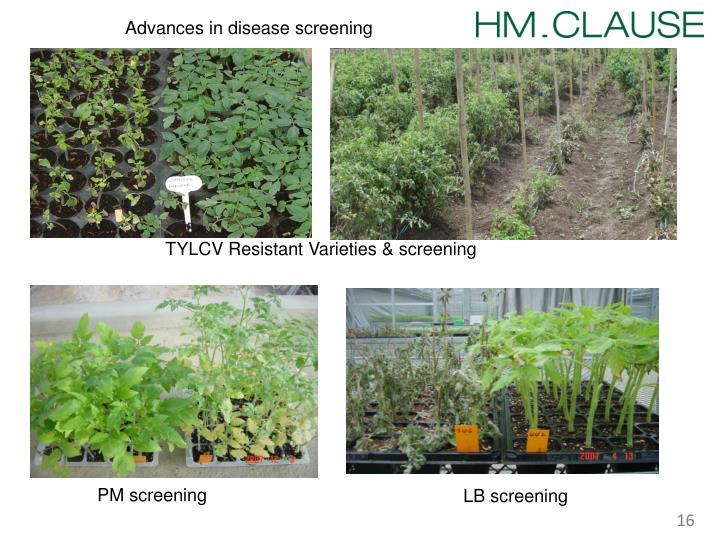 Advances in disease screening