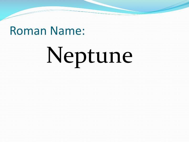 Roman Name: