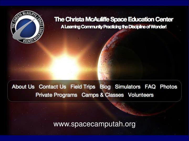 www.spacecamputah.org