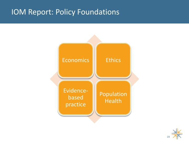 IOM Report: Policy Foundations