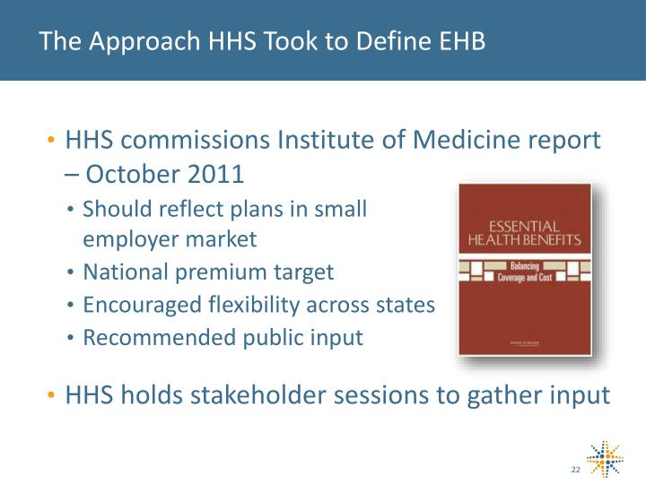 The Approach HHS Took to Define EHB