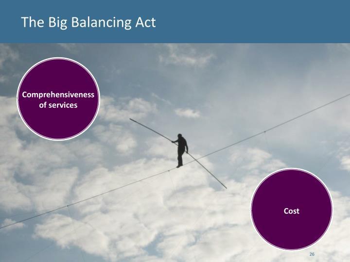 The Big Balancing Act