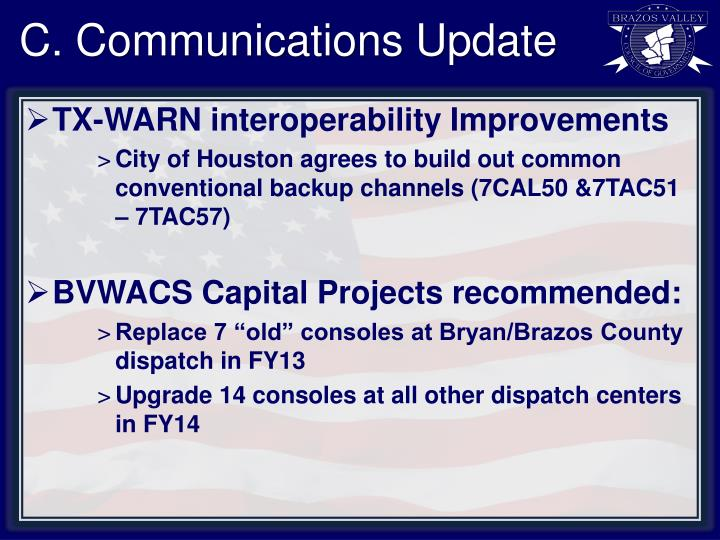 C. Communications Update