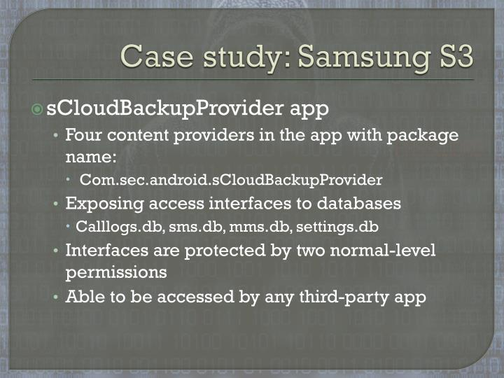 Case study: Samsung S3