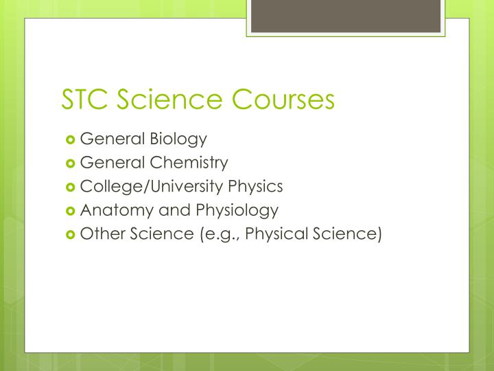 STC Science Courses