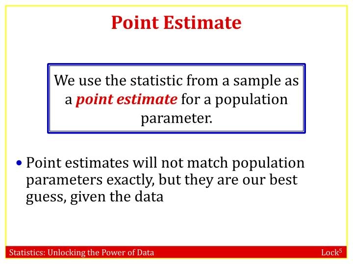 Point Estimate