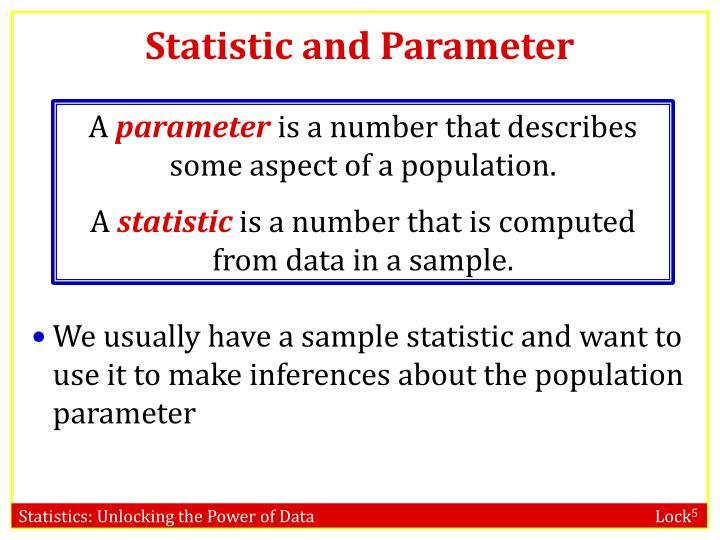Statistic and Parameter