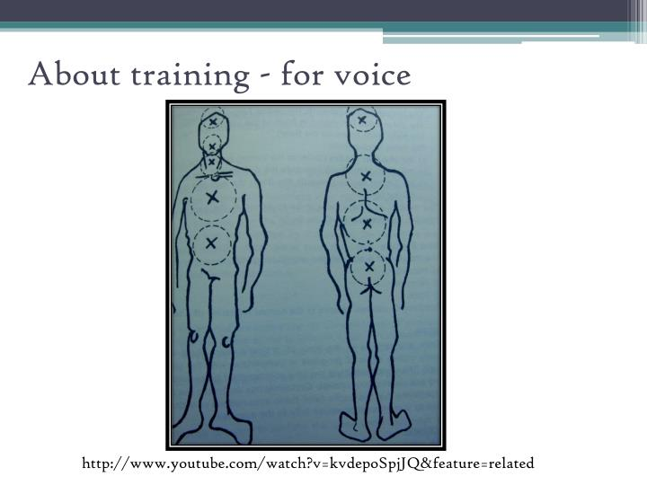 About training - for voice