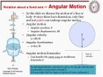 rotation about a fixed axis angular motion1