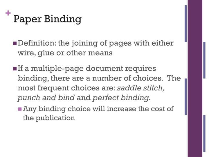 Paper Binding