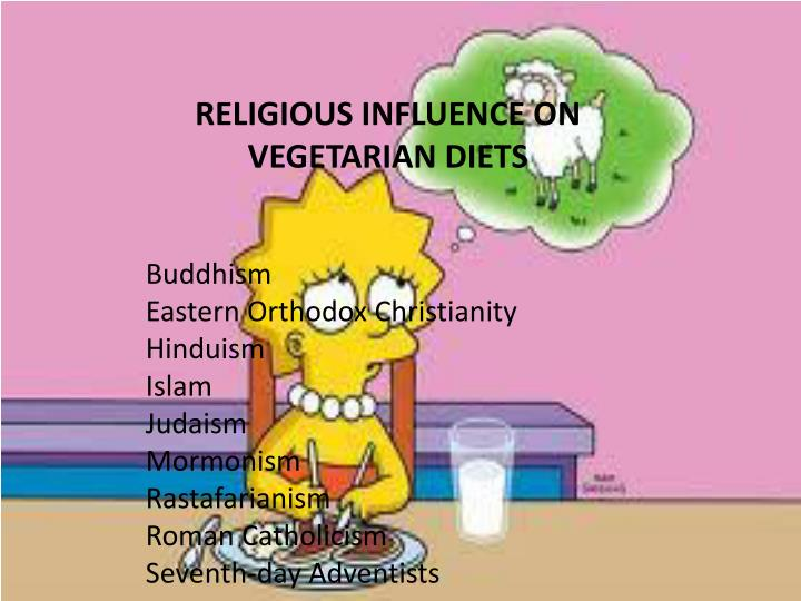 RELIGIOUS INFLUENCE ON VEGETARIAN DIETS