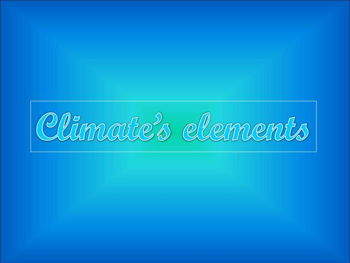 Climate's