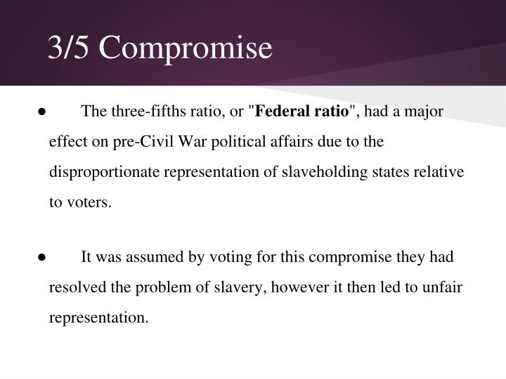 compromise in the pre civil war era Causes of the civil war timeline key us history events and dates three-fifths compromise the constitutional convention settles on the three-fifths compromise.