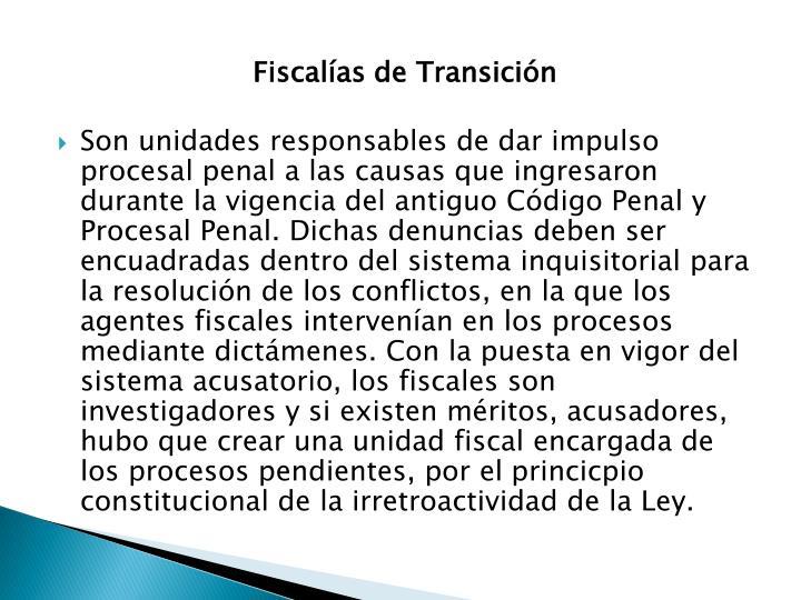 Fiscalías de Transición
