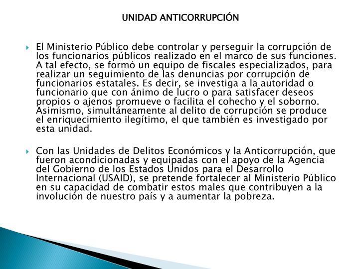 UNIDAD ANTICORRUPCIÓN