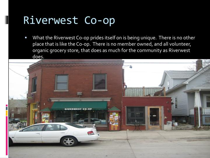 Riverwest Co Op Cafe Menu