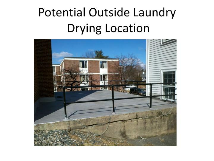 Potential Outside Laundry