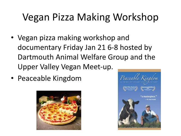 Vegan Pizza Making Workshop