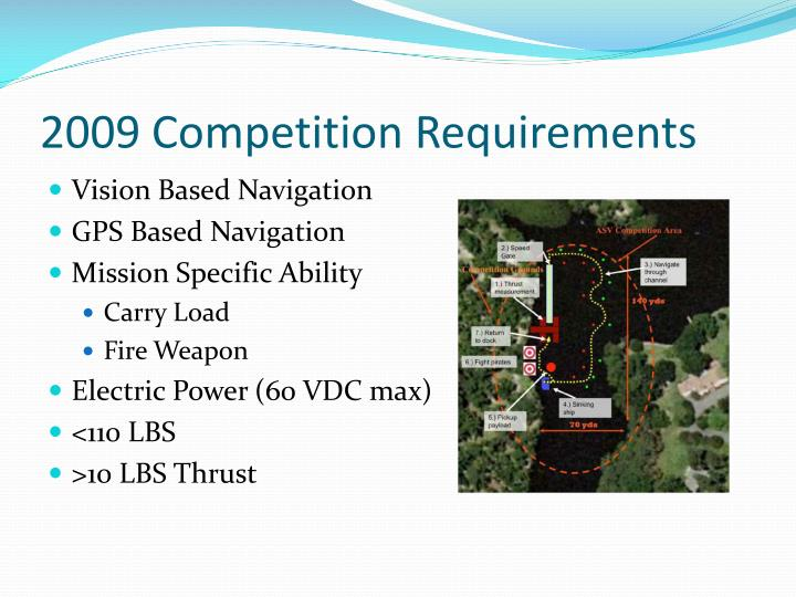 2009 competition requirements