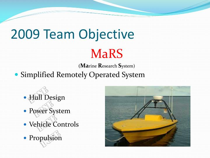 2009 Team Objective
