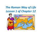 the roman way of life lesson 1 of chapter 12