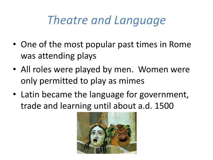 Theatre and Language