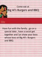 come eat at big al s burgers and bbq