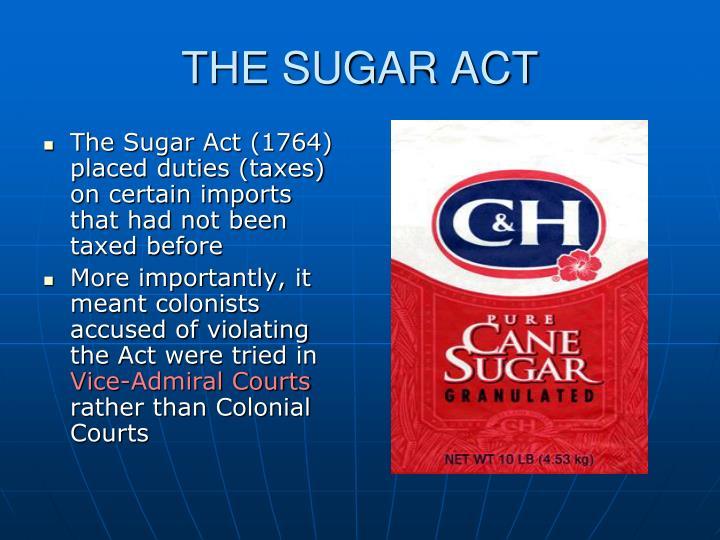 THE SUGAR ACT